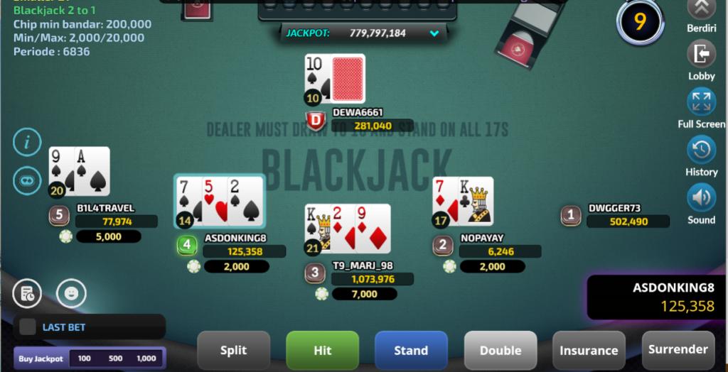 Judi Blackjack IDN Poker Online